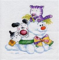 Айбик, кот и снеговик