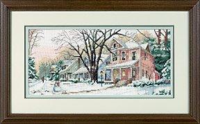 Winter on Main Street#13713 Sunset