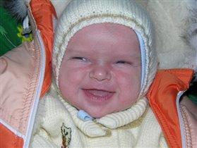 Первая улыбка. Игоречек. 3 недели