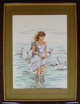 Girl with Swans