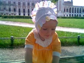Принцесса на фоне Царицинского дворца