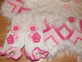poncho roza 4