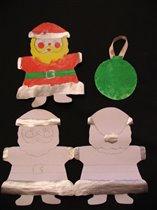 Заготовки для новогодних Дед Морозов и новогодней открытки