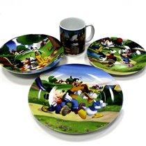 состав набора посуды Микки Маус керамика