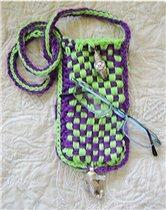Чехол из двухцветного  шнура