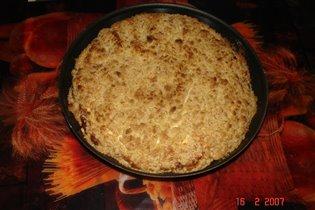 Пирог песочный с творогом