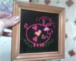свинка-валентинка