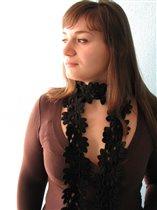 Чорный шарфик