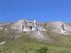 Женский монастырь в меловых горах в селе Костомарово в 220км от Воронежа