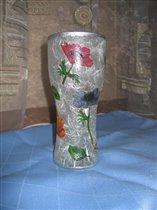 Весенняя вазочка (в прошлой жизни бокал для пива)