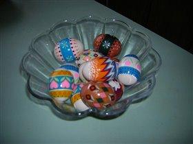 вот такие яица мы сделали в этом году...