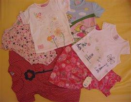 одежда на девочку от 3мес. до 2лет