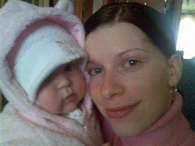Алиска с мамой