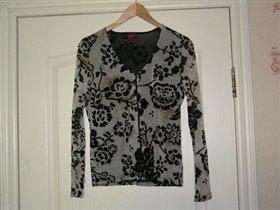 блузка с цветам  ткань