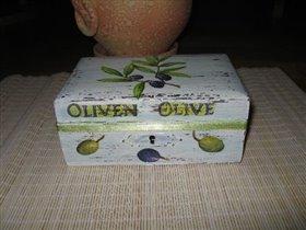 Шкатулка с оливками.