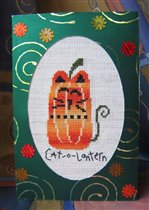 Хэллоуинская открытка