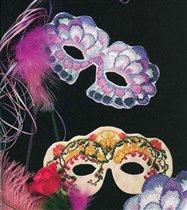 Карнавальные маски. Вышивка крестом