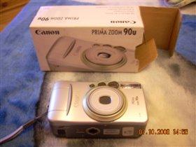фотоаппарат Canon плёночный с зумом.фотографии качественные получаются.1 раз брали на отдых.