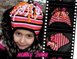 Зимняя шапочка с ушками