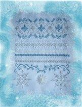 Фрагмент семплера Silver Frost от Patricia Ann