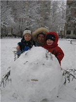 снежный колобок