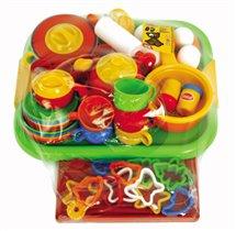 Чайно-обеденный кухонно-кондитерский набор на подносе, 85 предметов,в пленке