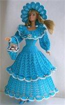 Вязаные костюмы для кукол Барби