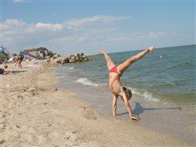 А я на море тренируюсь!