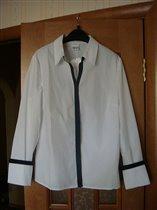 Блузка белая с черной оконтовкой