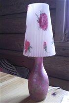 светильник с розами
