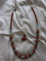Это бусы из Trade Beads с яшмой и серебром