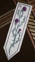 Ancient Thistle Bookmark - Heritage Textille