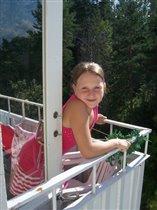 На балконе...
