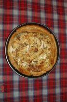 Пирог с грушами и 'зелёным' сыром