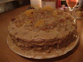 Вариация торта с грецкими орехами.