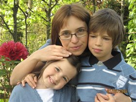 мама, сын и дочка