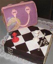 Тортик в подарок дочке друзей.