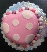 Тортик пятнистое сердечко:)