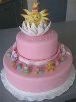 Тортик на 11 месяцев младшего Солнышка - Дюймовочки:)