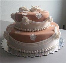 Тортик на 16-летнюю годовщину нашего с мужем венчания.