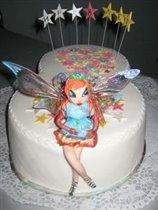 Торт с феей Винкс