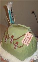 Торт 'Рюкзак с лыжами'