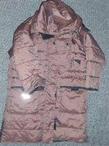 Теплое пальто для девочки, размер 4 года