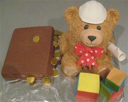 Торт 'Мишка-строитель с чемоданом денег' :)