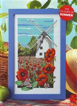 413 - The World of Cross Stitching - Windmill ad Poppies