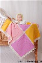 Вязание для новорожденных - плед