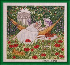 060_вышивальщица в саду