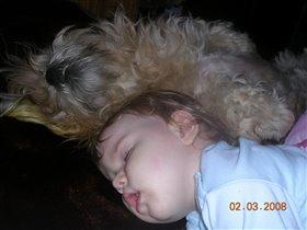 Наигрались и заснули