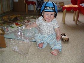 теперь я ползаю в безопасном шлеме