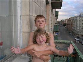 Сын и доча в Питере